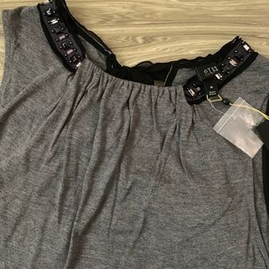 Lane Bryant Beaded Tunic Tank with Bow Detail NWT